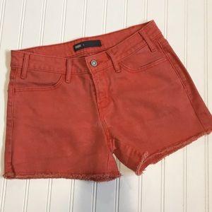 Levi's Jean shorts bright orange